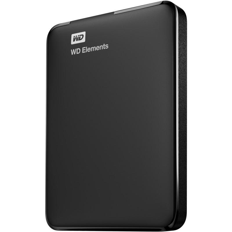 Pevný disk WD Elements Portable 1TB Pevný disk, externí, 2,5, USB 3.0, černý WDBUZG0010BBK-EESN