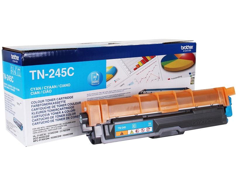 Tonerová kazeta BROTHER TN-245C Tonerová kazeta, výdrž 2200 stránek, barva azurový-cyan, pro tiskárny DCP-9020CDW, HL-3140CW, HL-3150CDW, HL-3170CDW, MFC-9140CDN, MFC-9330CDW, MFC-93 TN245C