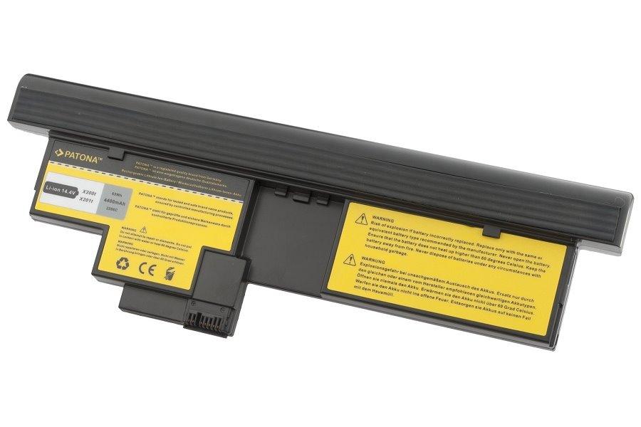Baterie PATONA pro IBM 4400 mAh Baterie, 4400 mAh, pro notebooky IBM ThinkPad X200 Tablet-PC, X201 Tablet-PC, neoriginální PT2286