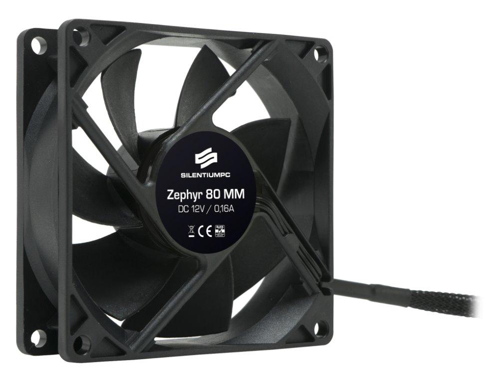 Ventilátor SilentiumPC Zephyr 80 Ventilátor, 80mm fan, ultratichý 13,9 dBA SPC014
