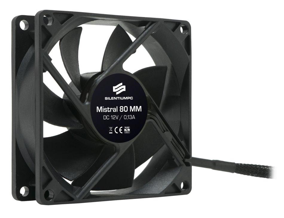 Ventilátor SilentiumPC Mistral 80 Ventilátor, 80mm fan, ultratichý SPC045