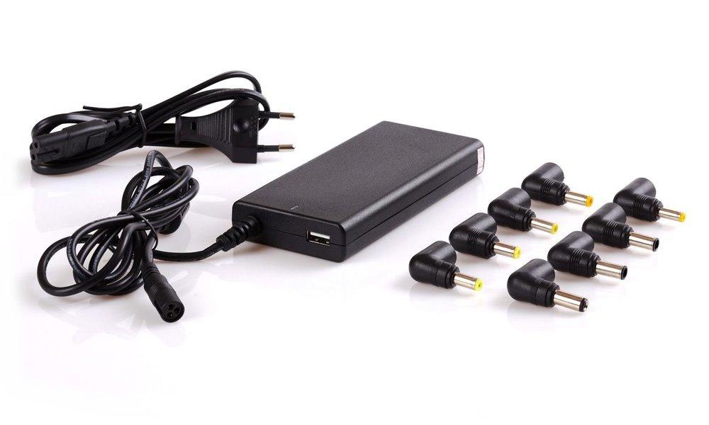 Napájecí adaptér EUROCASE 65W univerzální Napájecí adaptér, univerzální, k notebookům, s USB, slim provedení NAEC-MIZ-65S