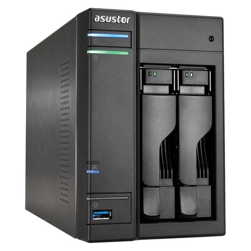 Síťové uložiště NAS Asustor AS-302T Síťové uložiště NAS, 2-bay NAS server, media station, Dual Core Atom 1,6GHz, 1GB DDR3, 2xUSB 3.0, 2xUSB 2.0, HDMI výstup AS-302T