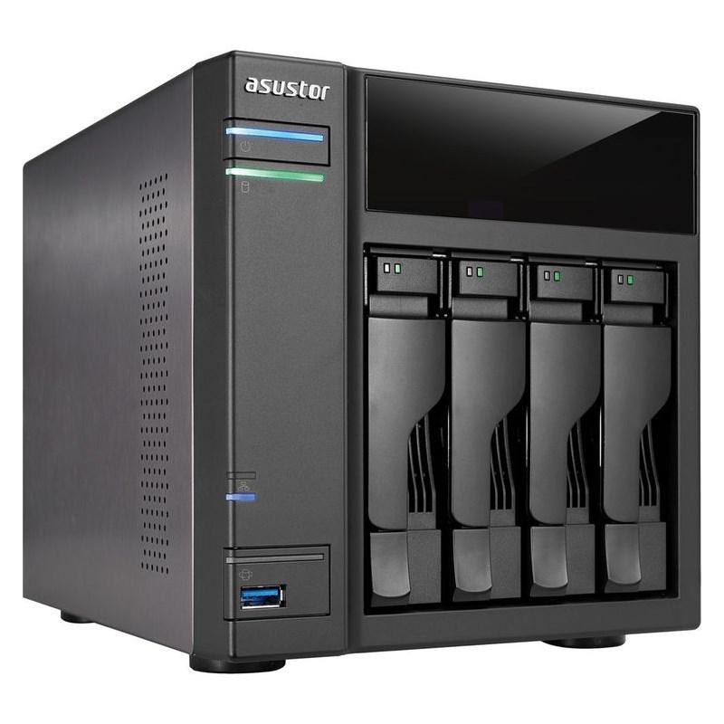 Síťové uložiště NAS Asustor AS-304T Síťové uložiště NAS, 4-bay NAS server, media station, Dual Core Atom 1,6GHz, 1GB DDR3, 2xUSB 3.0, 2xUSB 2.0, HDMI výstup AS-304T