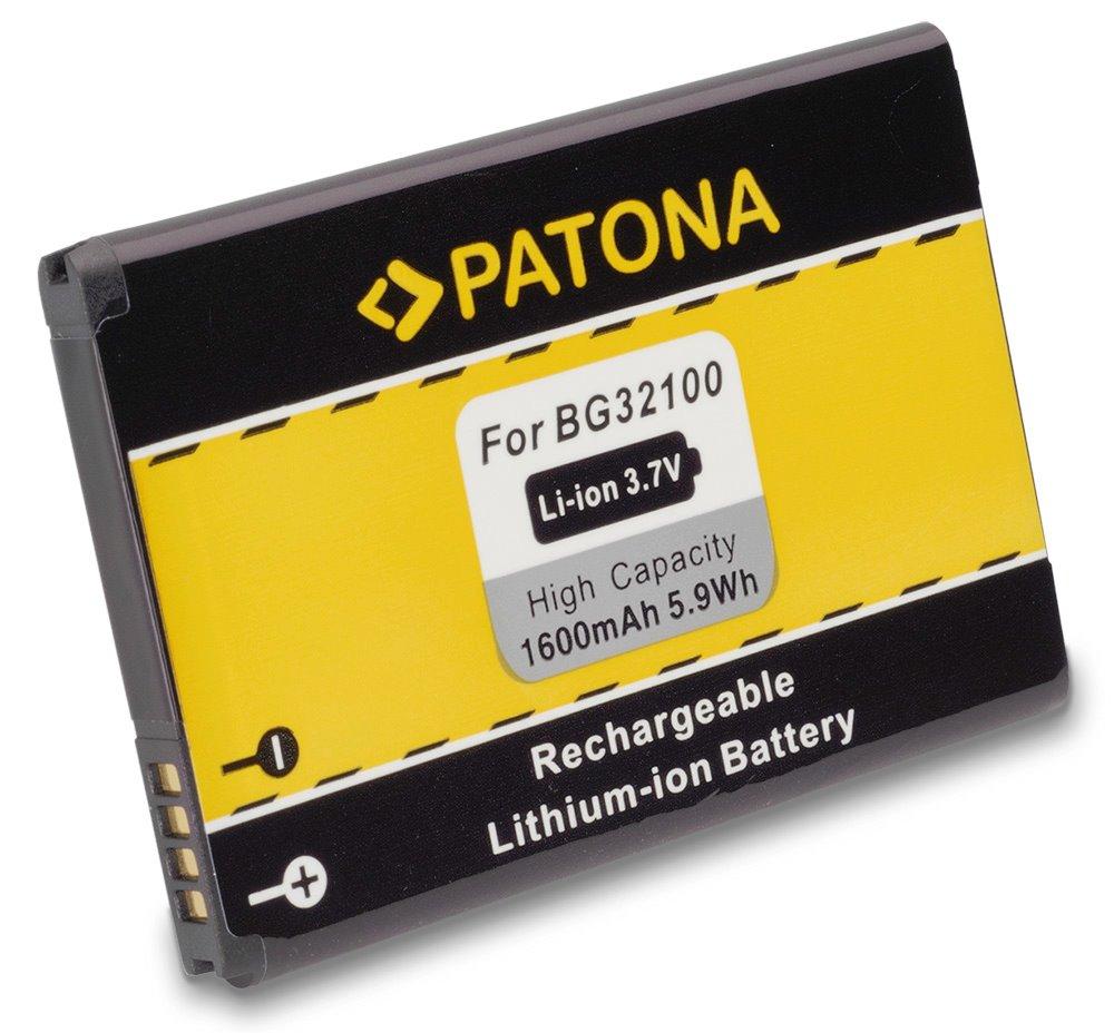 Baterie PATONA kompatibilní s HTC BA-S450 1600mAh Baterie, pro mobilní telefon, 35H00140-xxM, 35H00152-xxM, 35H00154-xxM, 99H10240-xx, BA-S450, BAS450, BA-S530, BAS530, BB96100, BG32100, S520, S580, 1 PT3011