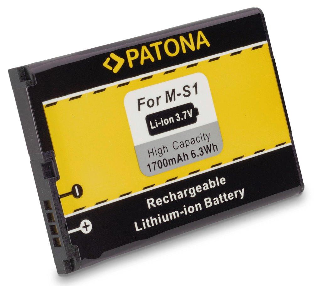 Baterie PATONA kompatibilní s Blackberry M-S1, MS1 Baterie, pro mobilní telefon, M-S1, MS1, 1700mAh, 3.7V, Li-Ion, Blackberry 8980, 9700, 9788, Blackberry 9000, Bold 9000, Bold 9700, Bold 9780, Bold 97 PT3015