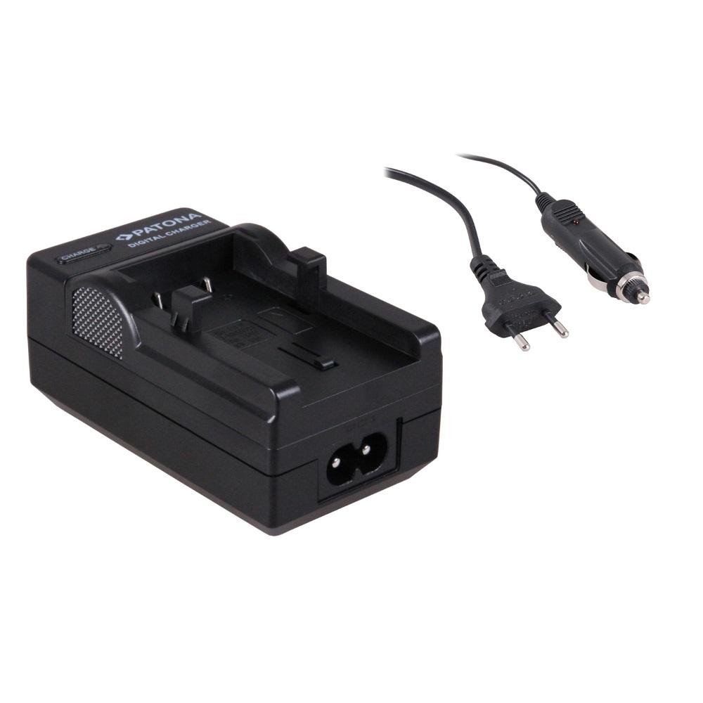 Nabíječka PATONA kompatibilní s Olympus LI10B Nabíječka, pro fotoaparát, Olympus LI10B, LI12B, 230V, 12V PT1517