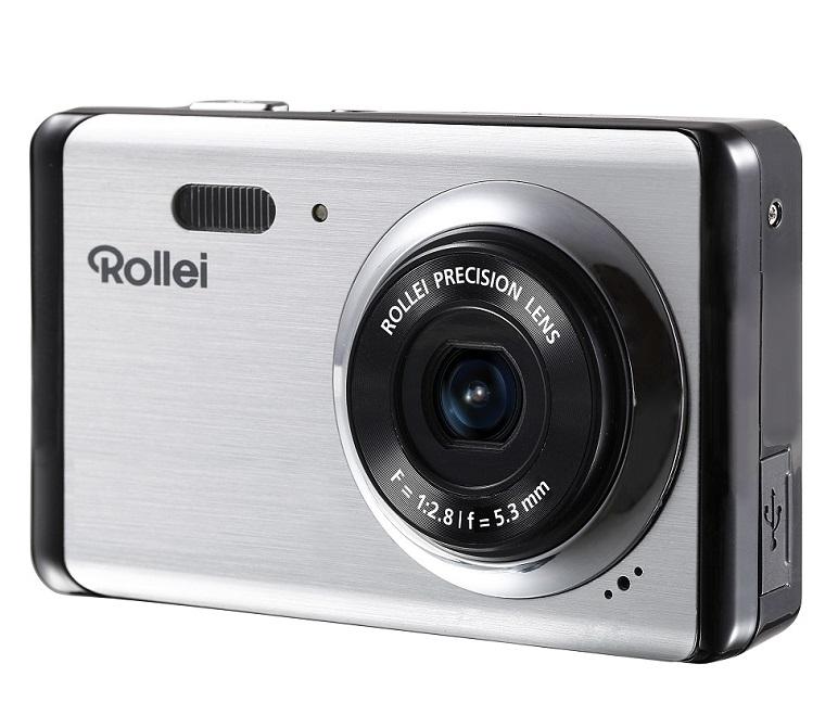 """Digitální fotoaparát Rollei Compactline 83 Digitální fotoaparát, kompaktní, 8 MPix, 8x zoom, 2,7"""" LCD, HD video, Stříbrný"""