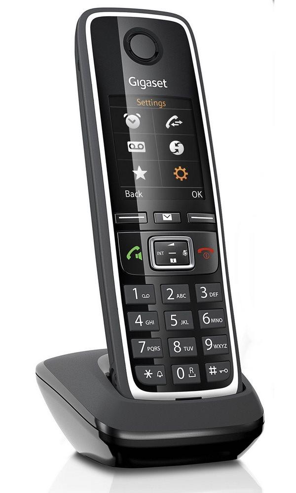 Bezdrátový telefon SIEMENS GIGASET C530 černý Bezdrátový telefon, DECT/GAP bezdrátový, černý GIGASET-C530