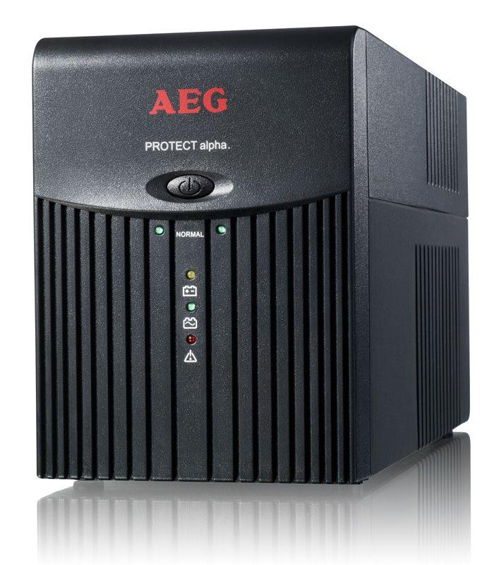 Záložní zdroj UPS AEG Protect Alpha 1200 Záložní zdroj UPS, 1200 VA, 600 W, USB 6000014749