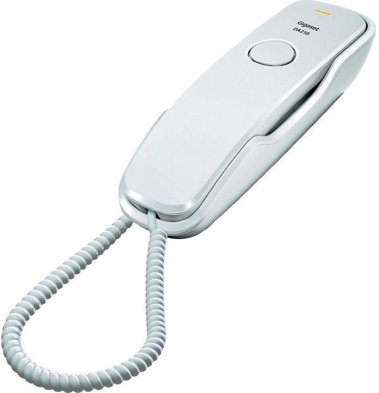 Telefon SIEMENS GIGASET DA210 bílý Telefon, bez displeje, barva bílá GIGASET-DA210-WHITE