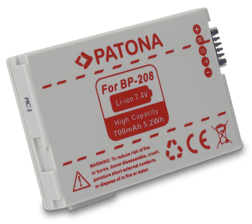 Baterie PATONA kompatibilní s Canon BP208 Baterie, pro fotoaparát, 700mAh, Li-Ion PT1180
