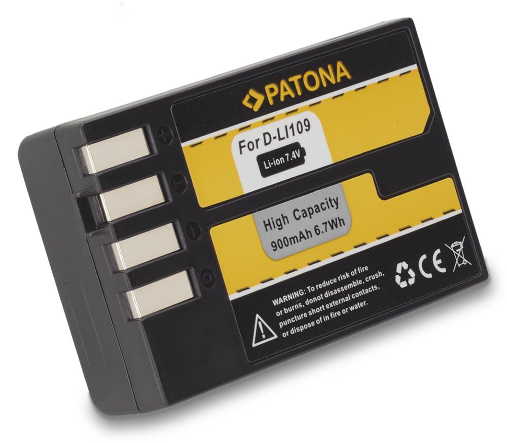 Baterie PATONA kompatibilní s Pentax D Li109 Baterie, pro fotoaparát, 900mAh, Li-Ion PT1187