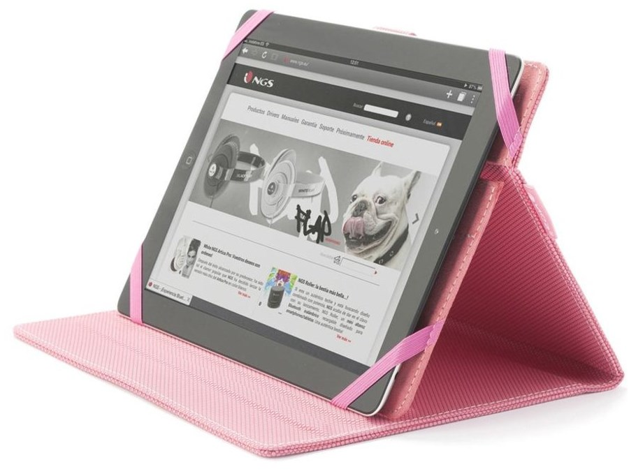Pouzdro NGS PINKMOB Pouzdro, stojan, pro 7 - 8, pro tablet, růžové PINKMOB