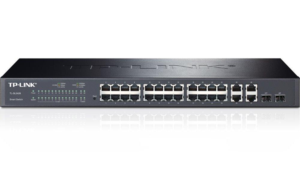 Switch TP-LINK TL-SL2428 Switch, 24 x 10/100Mbps + 4 x 1 Gbit, 2 x SFP, SNMP management TL-SL2428