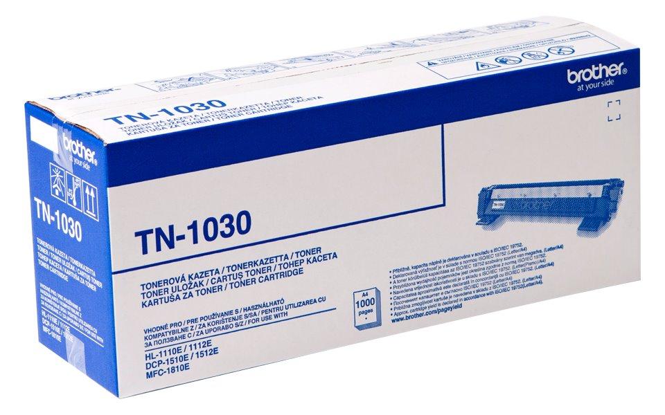 Toner Brother TN-1030 černý Toner, originální, pro Brother HL-1110, 1112/ DCP-1510, 1512, 1000 stran, černý TN1030