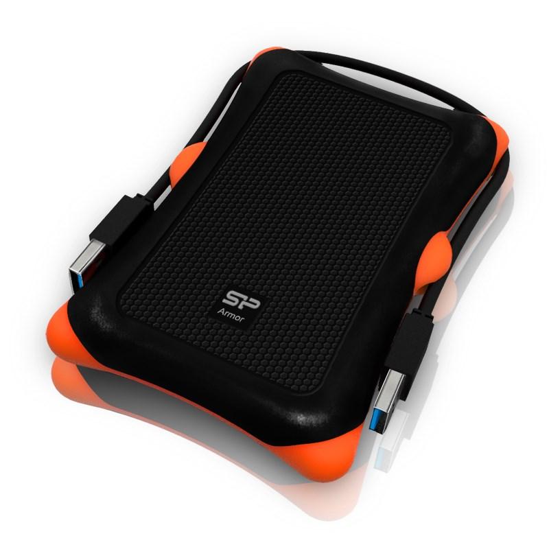 Pevný disk SILICON POWER Armor A30 1 TB Pevný disk, externí, USB3.0, vysoce odolný, černý SP010TBPHDA30S3K