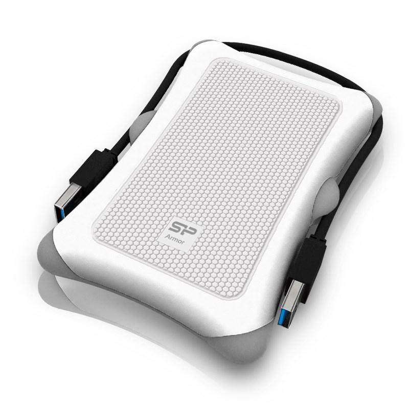 Pevný disk SILICON POWER Armor A30 1 TB Pevný disk, externí, USB3.0, vysoce odolný, bílý SP010TBPHDA30S3W