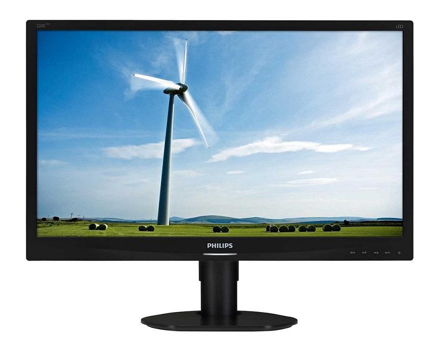 LED monitor PHILIPS 220S4LCB 22 LED monitor, 22, 16:10 1680x1050, 20.000.000:1, 5ms, pivot, D-SUB, DVI, černý 220S4LCB/00