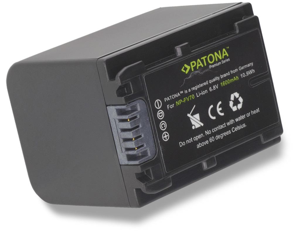 Baterie PATONA kompatibilní s Sony NP-FV30 Baterie, pro videokameru, 1600mAh, Li-Ion Premium PT1166