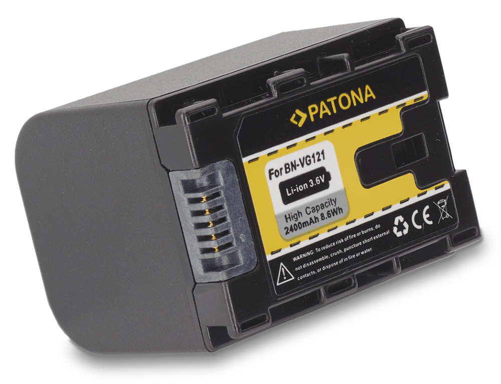 Baterie PATONA kompatibilní s JVC BN-VG121 Baterie, pro videokameru, 2400mAh, Li-Ion PT1172