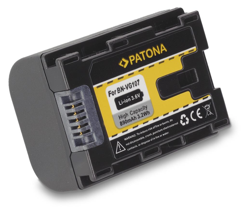 Baterie PATONA kompatibilní s JVC BN-VG107 Baterie, pro videokameru, 890mAh, Li-Ion PT1175
