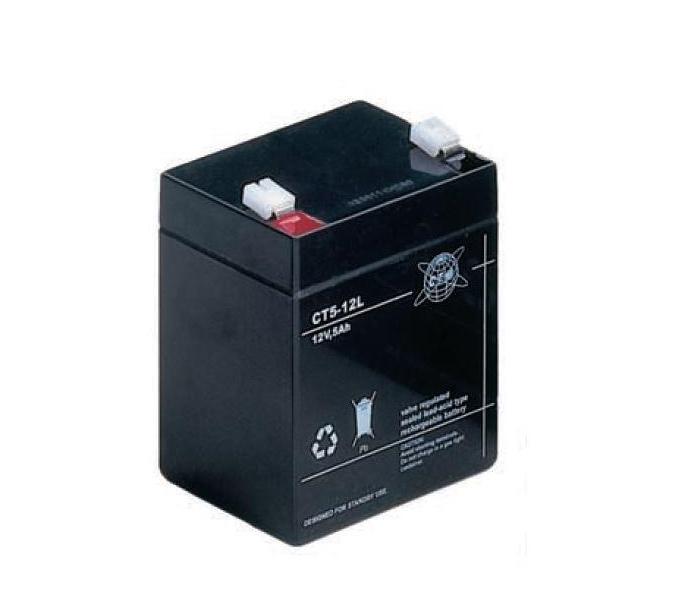 Baterie CTM CT 12-5L Baterie, pro UPS, pro AEG, APC, Eaton, 12V, 5Ah, životnost 5 let, konektor Faston 250 04184
