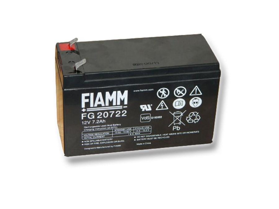 Baterie FIAMM FG20722 Baterie, pro UPS, pro APC, AEG, EATON, 12V, 7,2Ah, životnost 5 let, konektor Faston 250 07955