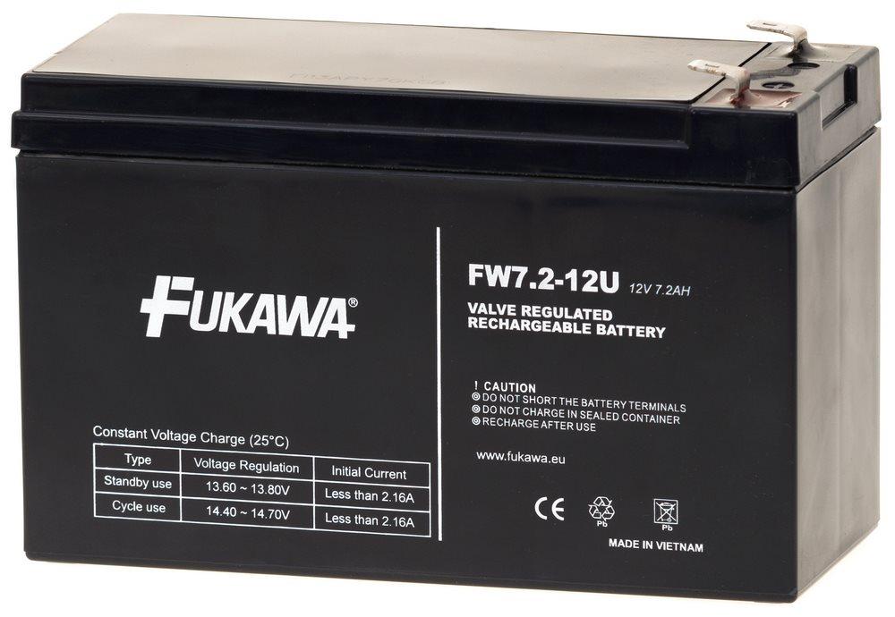 Baterie FUKAWA FW 7,2-12 Baterie, pro UPS, pro APC, AEG, Eaton, 12V, 7,5Ah, životnost 5 let, konektor Faston 187 10809