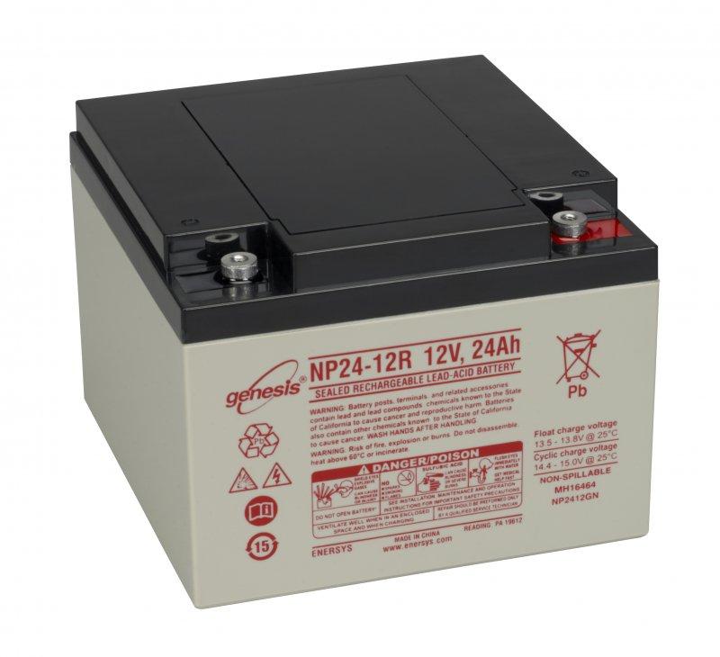 Baterie GENESIS NP 24-12 Baterie, pro UPS, pro AEG, 12V, 24Ah, životnost 5 let, konektor M5 06183