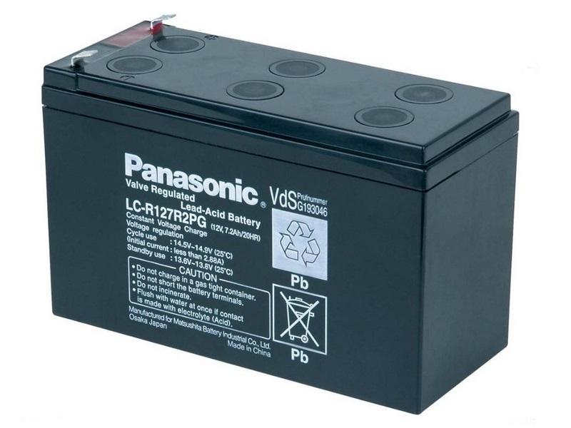 Baterie PANASONIC LC-R127R2PG Baterie, pro UPS, pro APC, AEG, Eaton, 12V, 7,2Ah, životnost 6-9 let, konektor Faston 187 00238