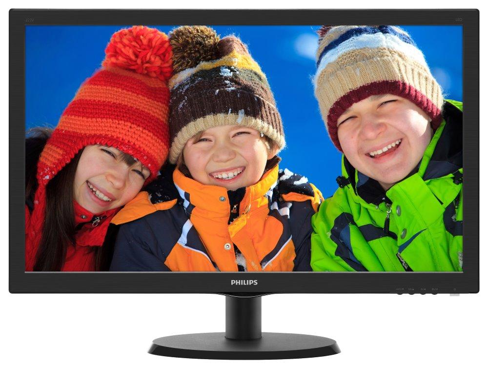 LED monitor 21,5 Philips 2223V5LSB2 LED monitor, 16:9, 1920 x 1080, 10.000.000:1, 5 ms, D-SUB, černý 223V5LSB2/10