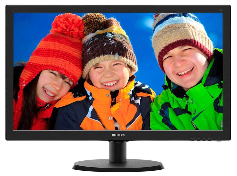 LED monitor PHILIPS 223V5LSB 21,5 LED monitor, 16:9 1920x1080, 10.000.000:1, 5ms, DVI, D-SUB, černý 223V5LSB/00