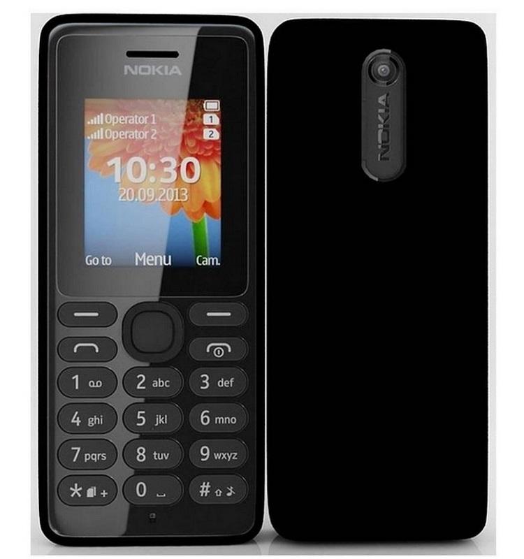 Mobilní telefon Nokia 108 Mobilní telefon, One Core, 4 MB , 1.8 TFT, Nokia Series 30, 0.3 MPx, černý A00015060