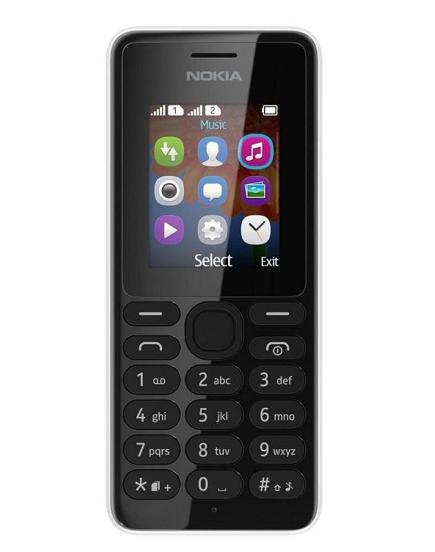 Mobilní telefon Nokia 108 Mobilní telefon, One Core, 4 MB , 1.8 TFT, Nokia Series 30, 0.3 MPx, bílý A00015061