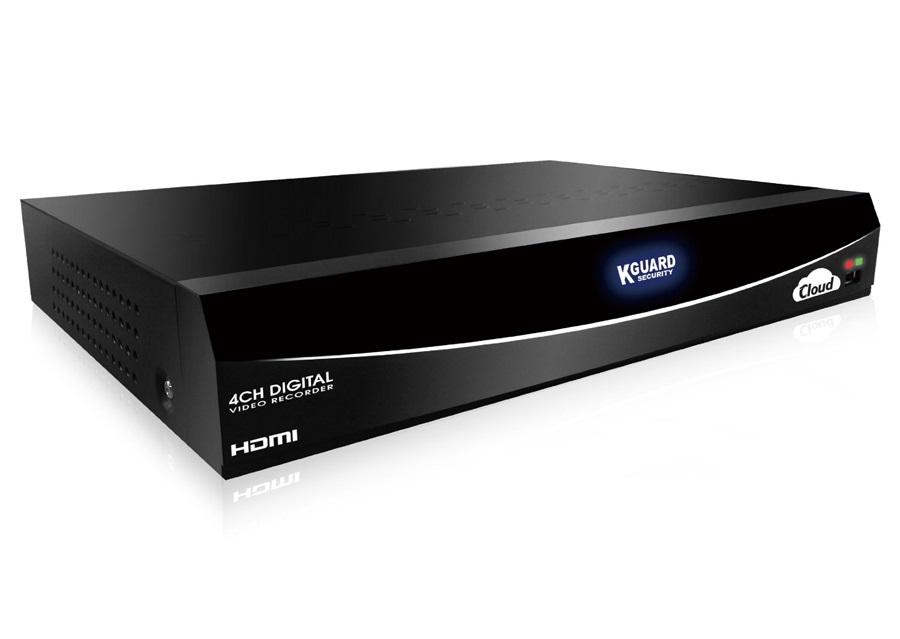 Cloud rekordér KGUARD EL421 Cloud rekordér, HD, 4 kanálový, QR kód, 1x 3,5HDD, 4 vstupy, HDMI, myš EL421