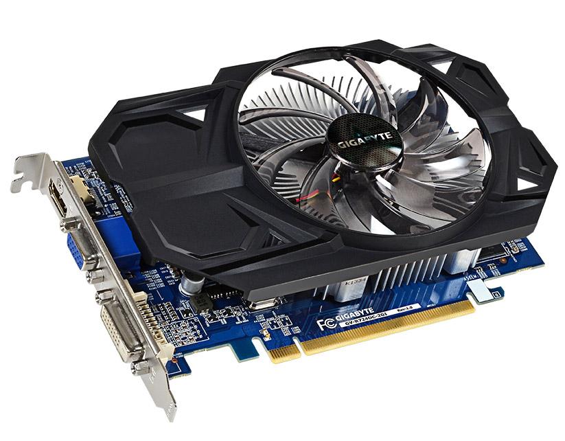 Grafická karta GIGABYTE AMD Radeon R7 240 Grafická karta, PCI-E, 2GB DDR3, HDMI, DVI, D-SUB, active Overclock GV-R724OC-2GI