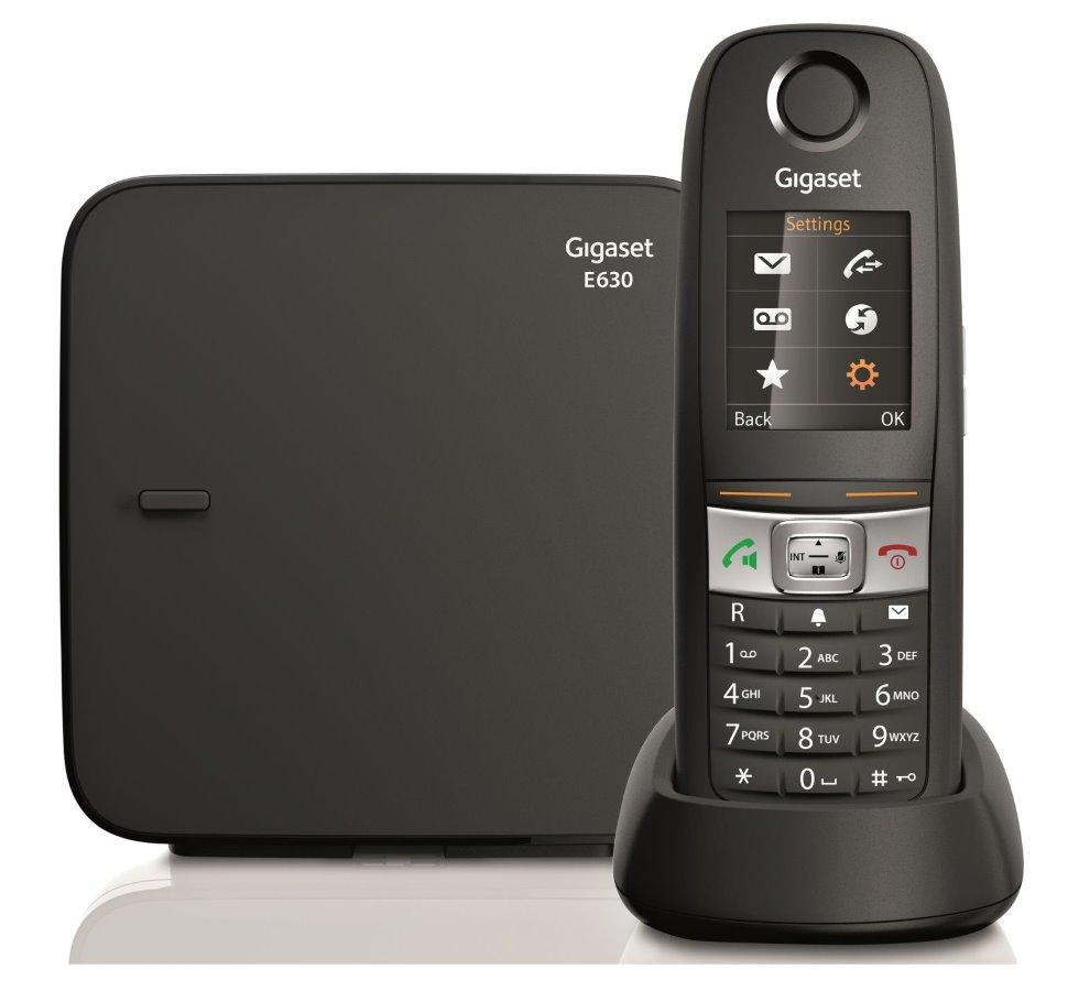 Bezdrátový telefon SIEMENS GIGASET E630 černý Bezdrátový telefon, DECT/GAP, bezdrátový, černý GIGASET-E630