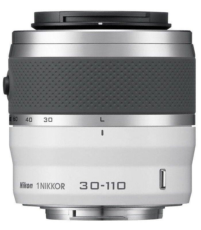 Objektiv Nikon 1 NIKKOR 30 - 110 mm f/3,8-5,6 VR Objektiv, 30 - 110 mm, f/3,8-5,6, VR, bílý JVA703DB