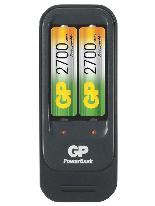 Nabíječka baterií GP PB560 Nabíječka baterií + 2AA, NiMH, 2700 mAh 1604156000
