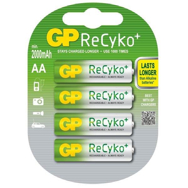 Nabíjecí baterie GP 1033214073 Nabíjecí baterie, AA, NiMH, 2000 mAh, Recyko+ 4ks blistr 1033214073