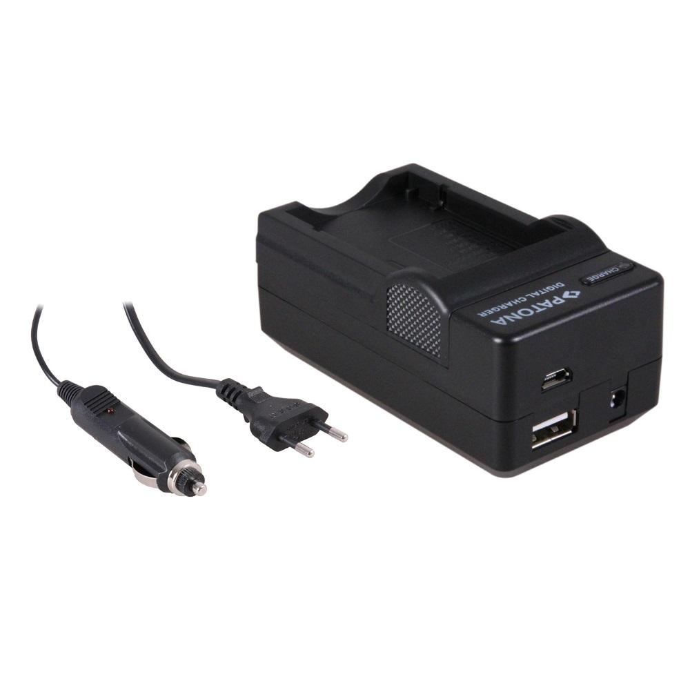 Nabíječka PATONA 4v1 kompatibilní s Fuji NP-60 Nabíječka, pro fotoaparát, 4v1, Fuji NP-60, 230V, 12V PT5576