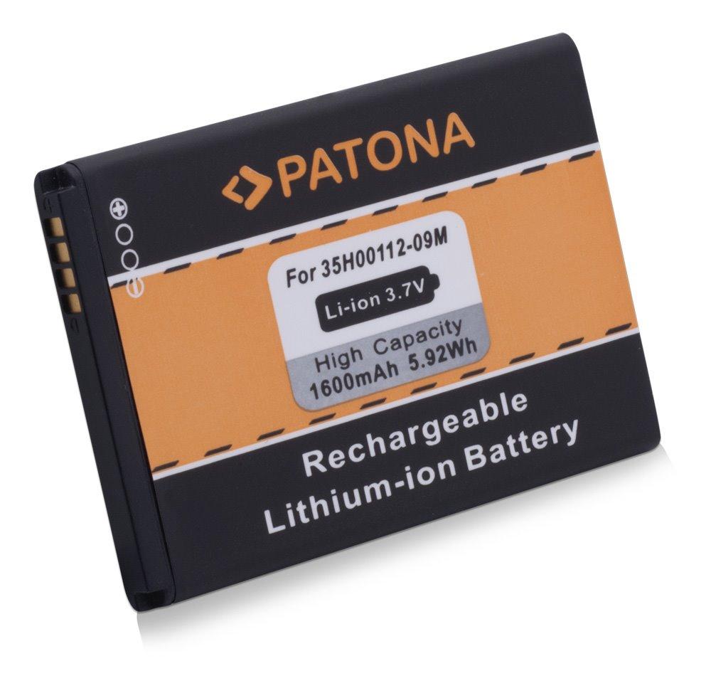 Baterie PATONA kompatibilní s HTC 35H00134-xxM Baterie, pro mobilní telefon, HTC 35H00134-xxM, HTC BA-S420, HTC BA-S440, HTC BB00100, HTC BB96100, HTC PC40100, 1600mAh, 3.7V, Li-Ion, HTC 7 Trophy, PT3027