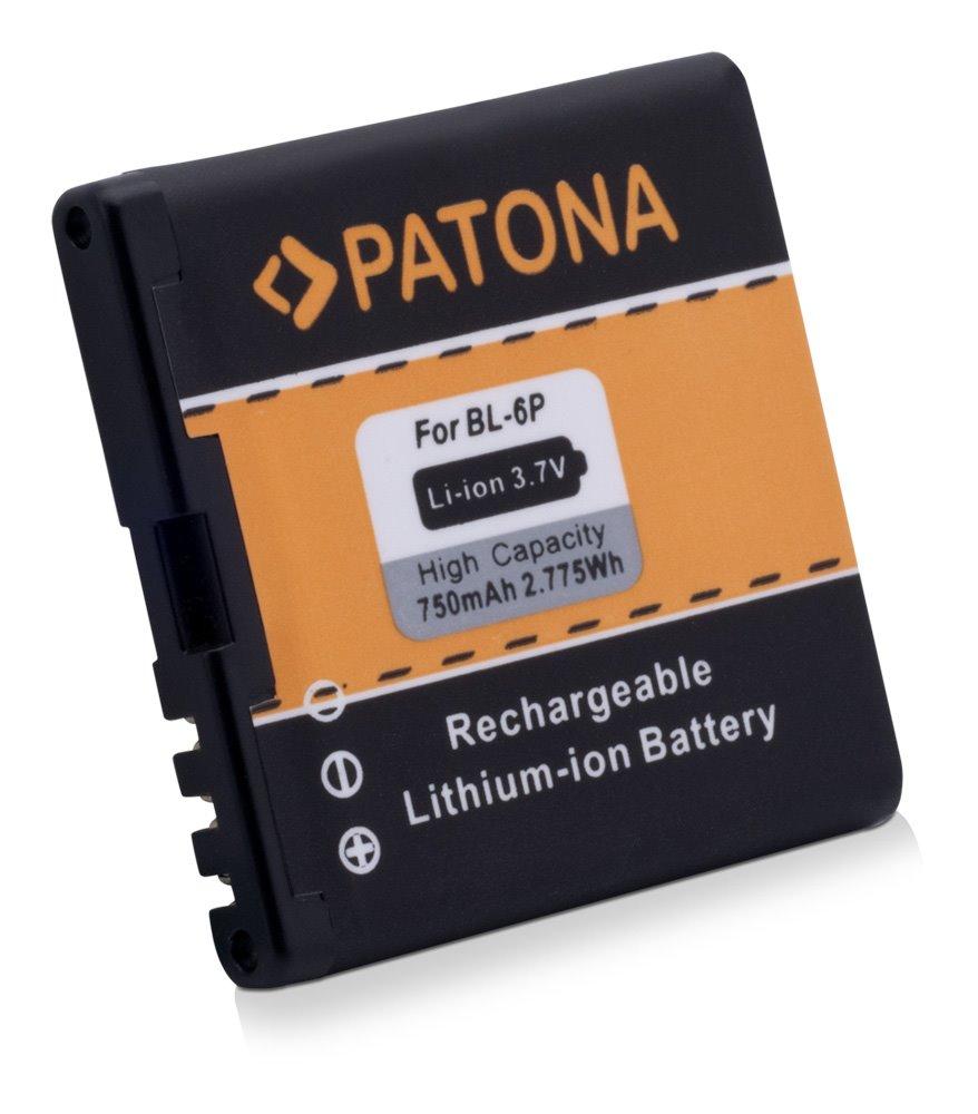 Baterie PATONA kompatibilní s Nokia BL-6P 750mAh Baterie, pro mobilní telefon, BL-6P, 750mAh, 3.7V, Li-Ion, Nokia 6500 classic, Nokia 6500C, Nokia 7900 Prism PT3028