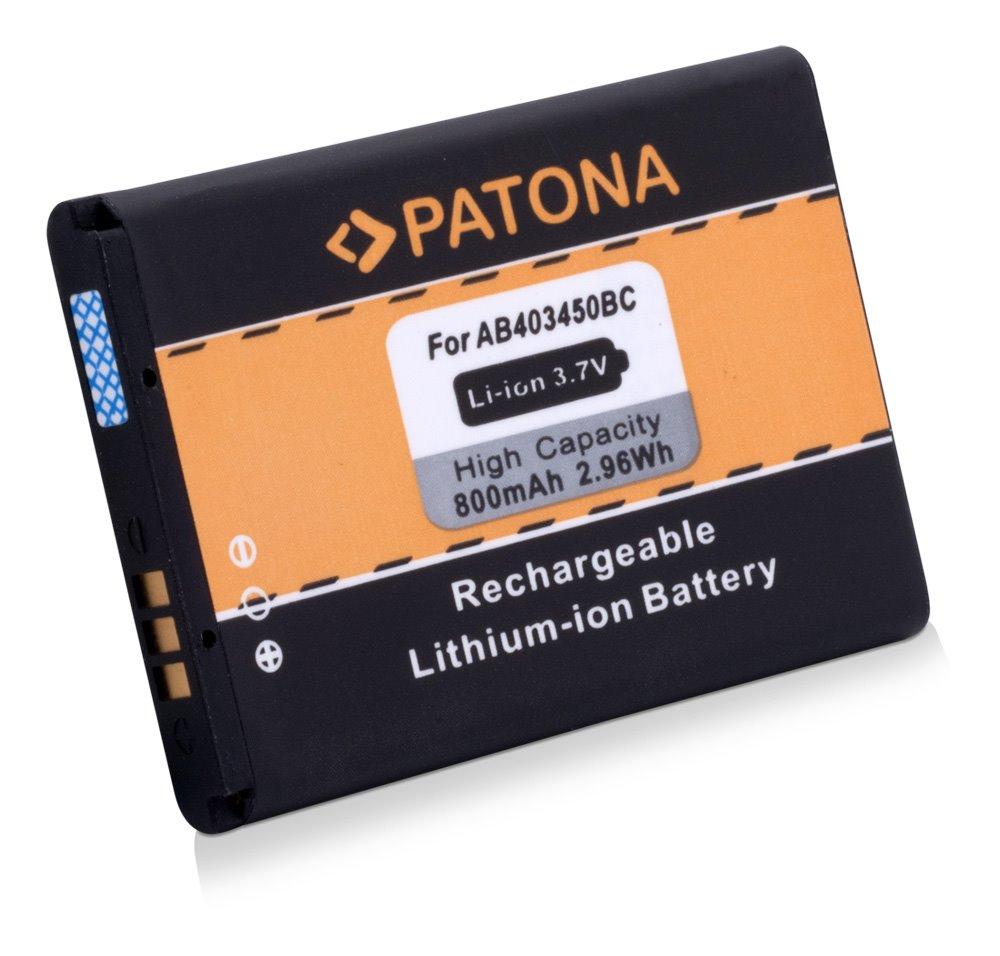 Baterie PATONA kompatibilní s Samsung E2550 Baterie, pro mobilní telefon, E2550, 800mAh, 3.7V, Li-Ion, Samsung E2550, Samsung GT-E2510, Samsung GT-E2550, Samsung GT-M3510 Beat, Samsung GT-S3550 PT3029