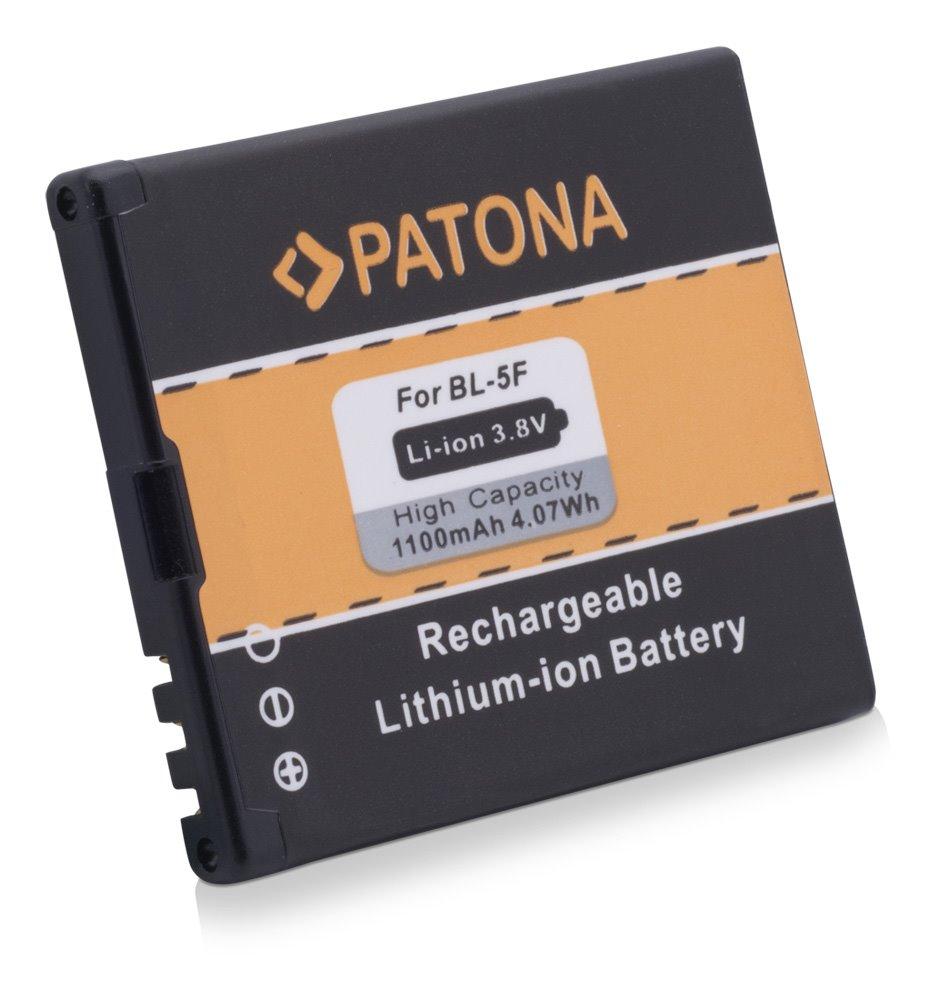 Baterie PATONA kompatibilní s Nokia BL-5F 110mAh Baterie, pro mobilní telefon, BL-5F, 1100mAh, 4,1V, Li-Ion, Nokia 6210 Navigator, 6210S, 6710 Navigator, 6290, E65, N93i, N95, N96, X5-00 PT3035