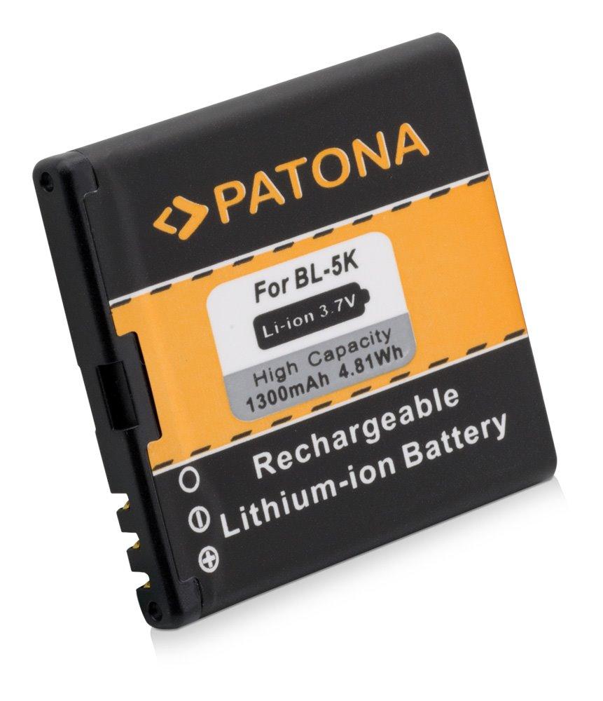 Baterie PATONA kompatibilní s Nokia BL-5K 1300mAh Baterie, pro mobilní telefon, BL-5K, 1300mAh, 3.7V, Li-Ion, Nokia 701, C7, C7-00, N85, N86-8MP, N86-8MP, Oro, X7, X7-00 PT3041