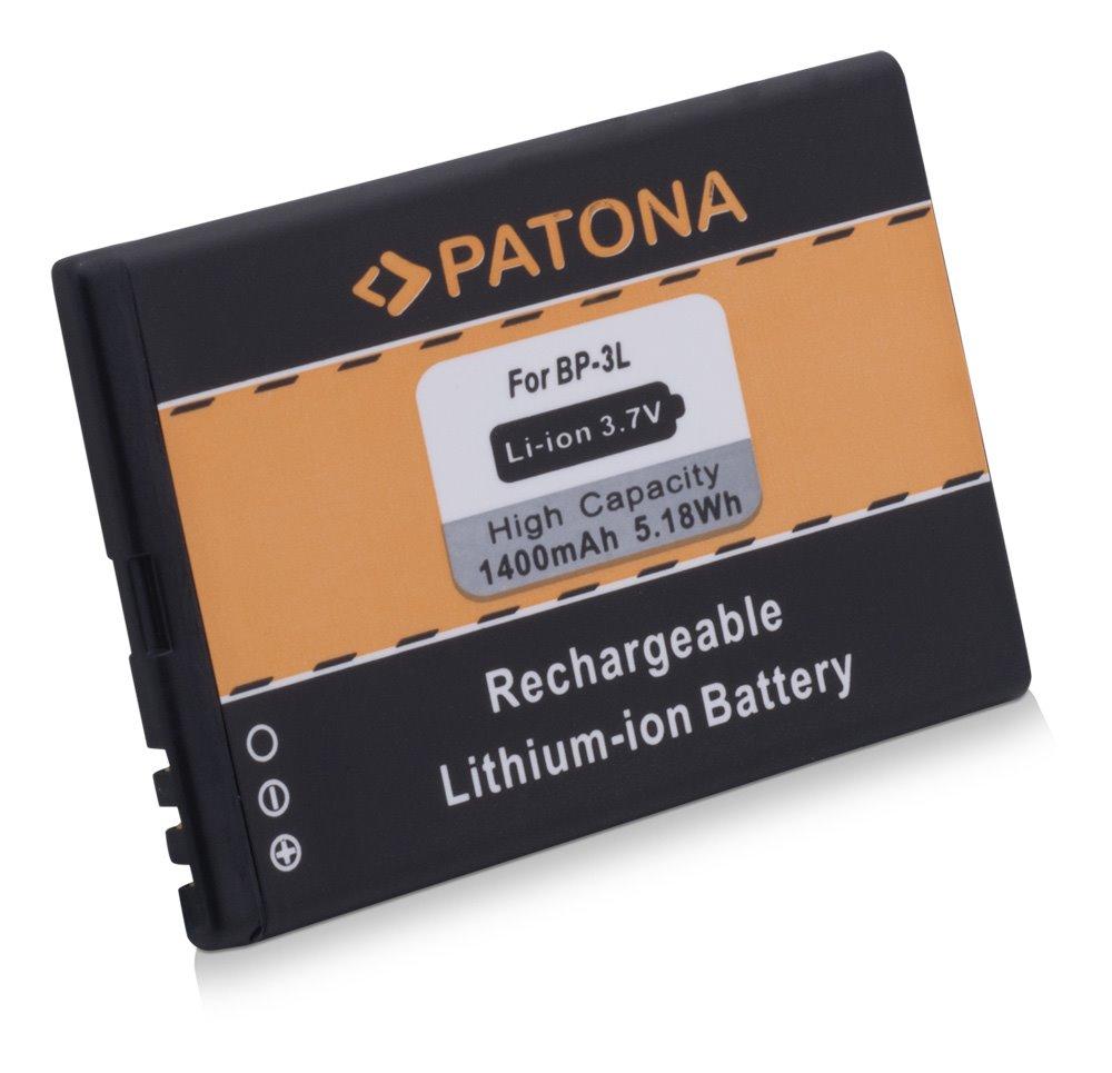 Baterie PATONA kompatibilní s Nokia BP-3L 1400mAh Baterie, pro mobilní telefon, BP-3L, 1400mAh, 3.7V, Li-Ion, Nokia 603, Nokia Asha 303, Nokia Lumia 510, Nokia Lumia 610, Nokia Lumia 710 PT3043