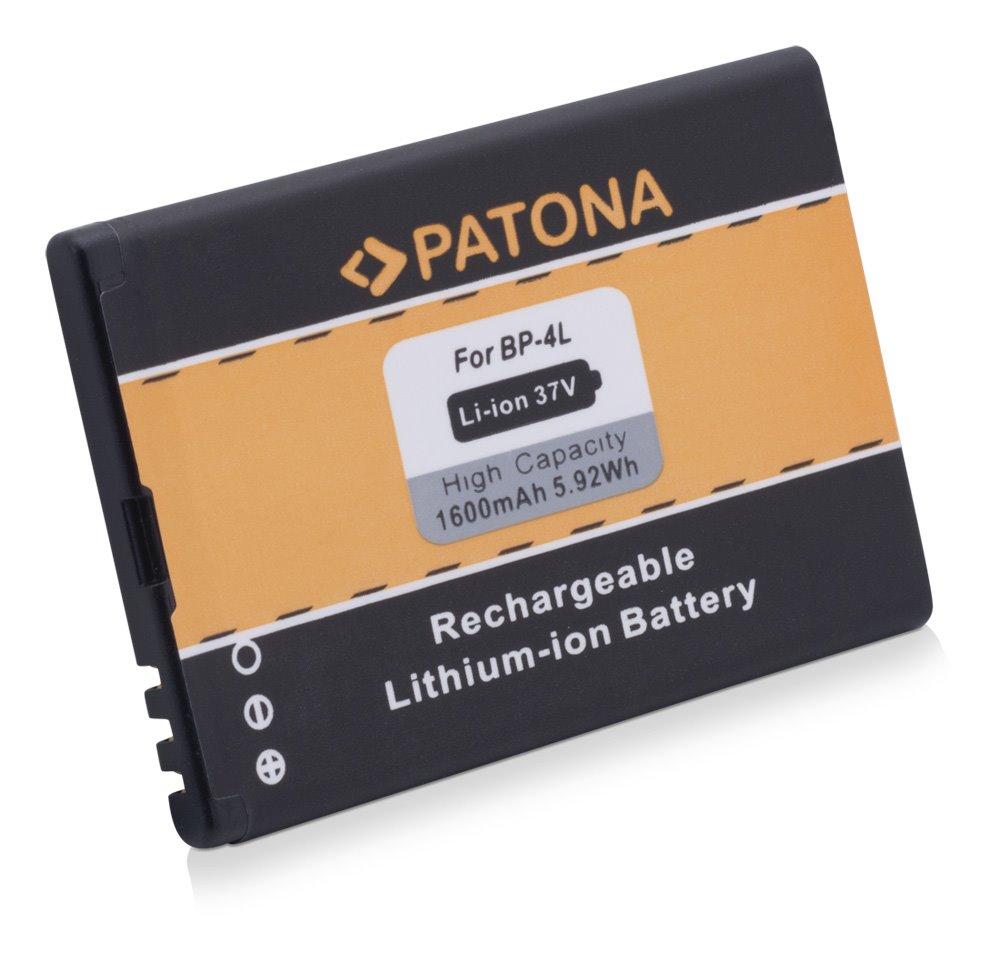 Baterie PATONA kompatibilní s Nokia BP-4L, BP-4C Baterie, pro mobilní telefon, BP-4L, BP-4C, 1600mAh, 3.7V, Li-Ion, Nokia 6650, E6-00, E52, E61i, E63, E71, E72, E90, N97, N810, 6760 slide PT3047