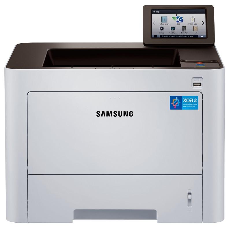 Laserová tiskárna SAMSUNG SL-M4025NX Černobílá laserová tiskárna, A4, 1200 x 1200, 4,3 LCD, 4 GB SD Card, 1 GB, Duplex, USB, Síť, Bílá SL-M4025NX/SEE